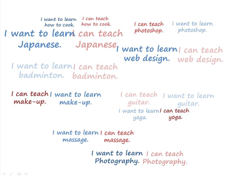I want to LEARN & I can TEACH