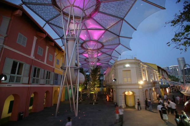 Clarke Quay Redevelopment, Singapore. Image courtesy of Will Alsop.