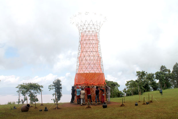 Warka Water, 2015. Image courtesy of WarkaWater.org