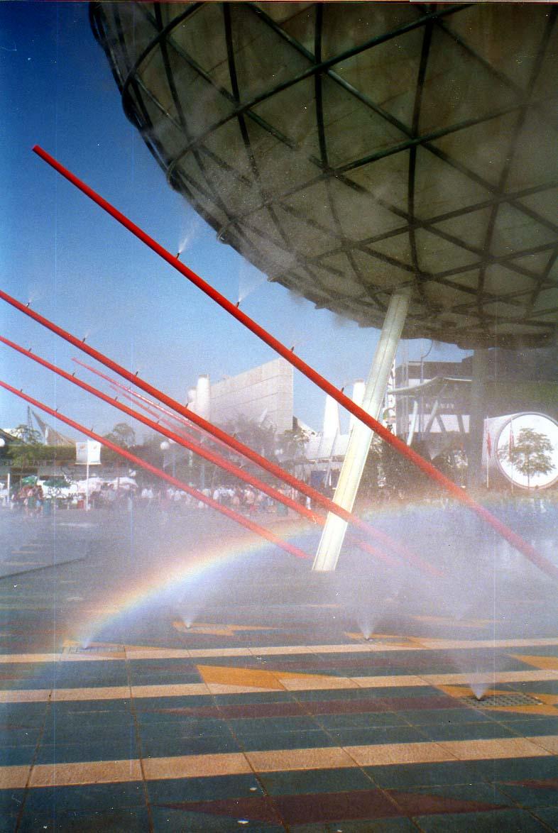 Calle Torricelli, EXPO 1992, Sevilla. Image Courtesy of Mapio
